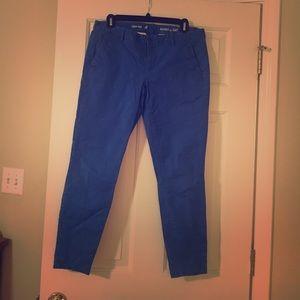 Chino pants, blue. Gap. Skinny mini fit. size 8.